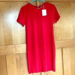 Zara Trafaluc Red/Pink Dress